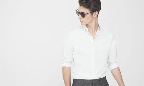 career wardrobe essentials while long-sleeved shirt